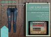Addams - Lixie Ripped Mesh Jeans - Maitreya,Belleza,Slink.Jeans- Ocean