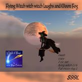 Flying Witch with Full Moon/Fog (crate)