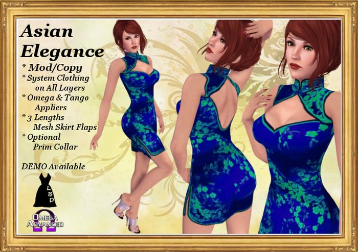 *LBD* Blue & Green Elegance Dress (Mesh skirt & appliers)