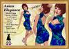 *LBD* DEMO Blue & Green Elegance Dress (Mesh skirt & appliers)