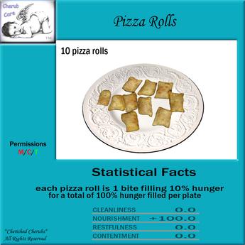 Cherub Care Pizza Rolls