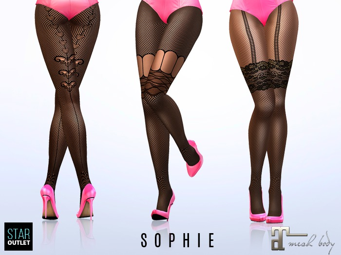 Star Outlet Pantyhose Sophie - Maitreya Applier - Fishnet 3 Styles