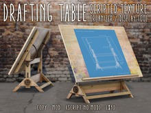 Faded Drafting Table Texture Display/Organizer Tool