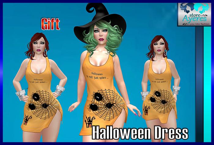 **((S.A))** GIF - Halloween Dress TMP, Maitreya, Belleza, Slink