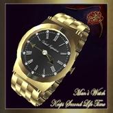 Virtual Impressions, Men's 12 Jewel Gold Watch