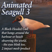 Seagull 3 Black-Headed Gull (animated)  - bird/gull/ocean/coast/seaside - bird/gull/sea/seaside/harbour/wharf/bouy/marke