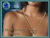 "! "" Su Xue "" Valentine 2 Heart Love Gold  Resize Necklace"