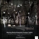 Waving Bioluminescent Fungus White