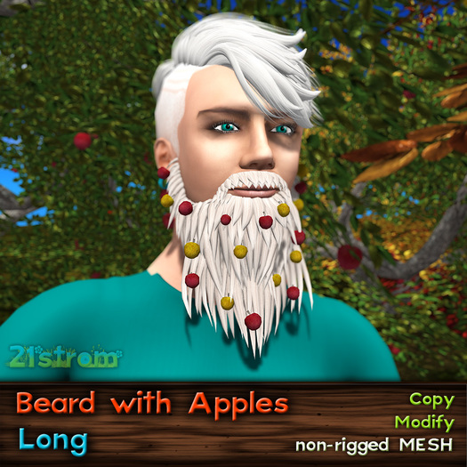 Mesh Long Beard with Apples - FAT PACK 16 colors