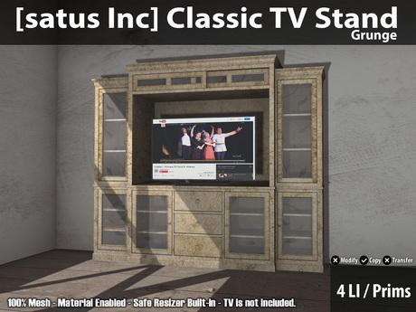 [satus Inc] Classic TV Stand - Grunge