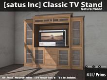 [satus Inc] Classic TV Stand - Natural Wood
