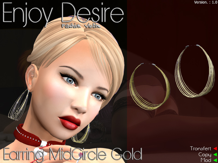Earring MidCircle Gold