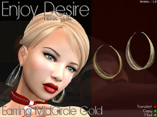 Earring MidCircle Gold 1.0