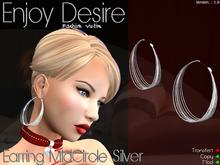 Earring MidCircle Silver