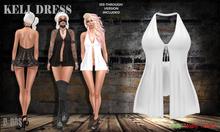 B BOS -Keli Dress-White-