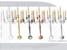 BWish - Candelabra Candlestick Mesh - 5 Colors Metal