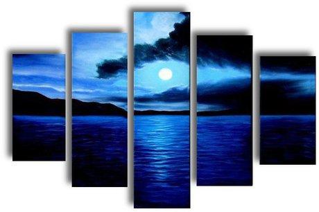 Landscape in blue - Panel Wall Art
