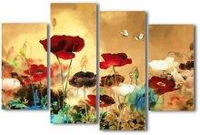 Field of Poppies 1 - Panel Wall Art - Tidbits - Boxed