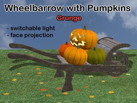 WheelBarrow Pumpkin Grunge