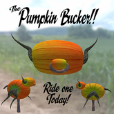 The Pumpkin Bucker! (Two versions: happy and scary)