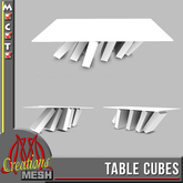 Table Cubes FULL PERM MESH