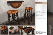 Sway's [Basketball] Wall Table & Bar Stool