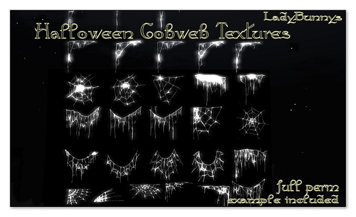 **How About That....Texture!**Halloween Cobweb Textures-{Full Perm Textures}