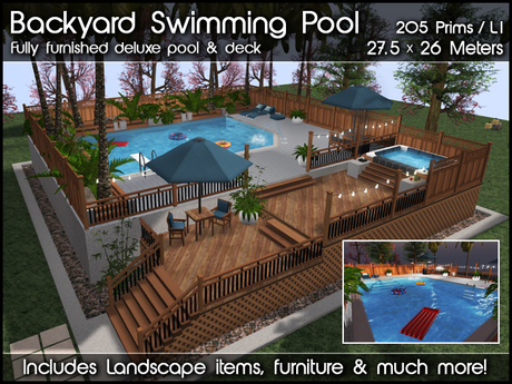 Swimming Pool, Hot Tub & Deck v1.1 (Package)