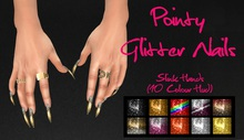 IAF Pointy Glitter Nails (Slink Hands) (Casual)