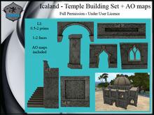 Icaland - Temple Building Set + AO maps