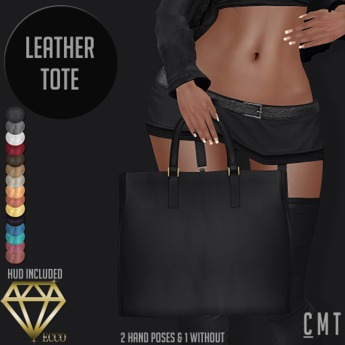 .:ECCO:. Leather Tote With HUD