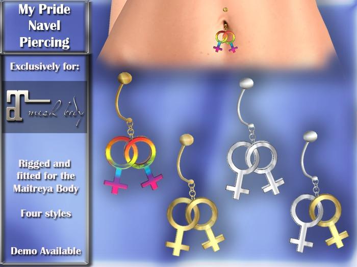 Exclusive for Maitreya Lara - My Pride Navel Piercing