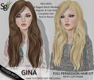 !Saltgrass! Gina Full Permission Rigged-Mesh Hair