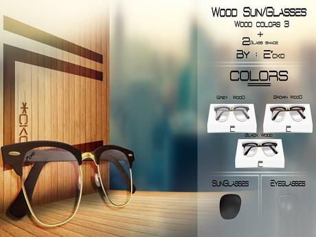 ::E*cko:: - (Pack) Wood Sun&Eye/Glasses