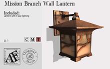 *AF* Mission Branch Wall Lantern