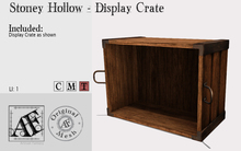 *AF* Stony Hollow Display Crate (Wear Me)