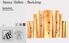 *AF* Stony Hollow Plank Backdrop (Wear Me)