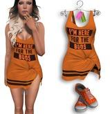 Eyelure  Football Jersey & Candy Corn Shoes -   OrangeBoo