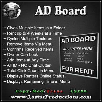 AD Board / Rental Board