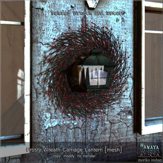 -Hanaya- Frosty Wreath Carriage Lantern [mesh]