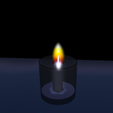 Black Mourning Candle in Glass