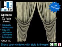 PB - Updrape Curtain (Paisley)
