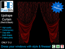 PB - Updrape Curtain (Red & Black)