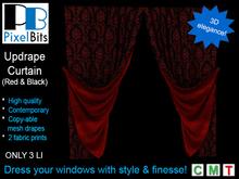 PB - Updrape Curtain (Beige Swirl) *Boxed*