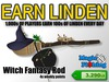 Magic Fishing Witch Fantasy Rod - Earn Linden By Fishing