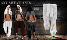 B BOS -Any SweatPants-White-White-