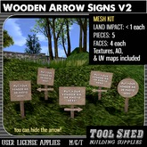 Tool Shed - Wooden Arrow Signs v2 Mesh Kit