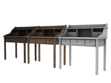 -ADI- Mesh Wooden Desk - Full Perm
