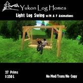 Frozens Log Porch Swing