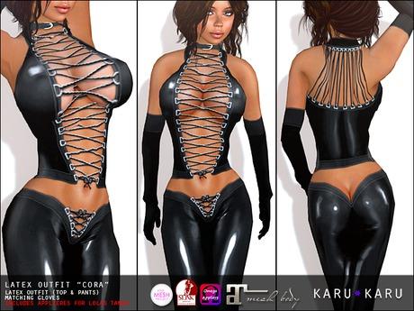 KARU KARU - Latex Outfit Cora (BLACK)